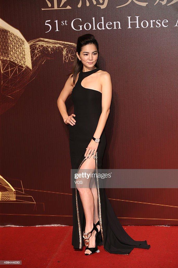 Singer Ella arrives at the red carpet of the 51st Golden Horse Awards at Sun Yat-sen Memorial Hall on November 22, 2014 in Taipei, Taiwan.