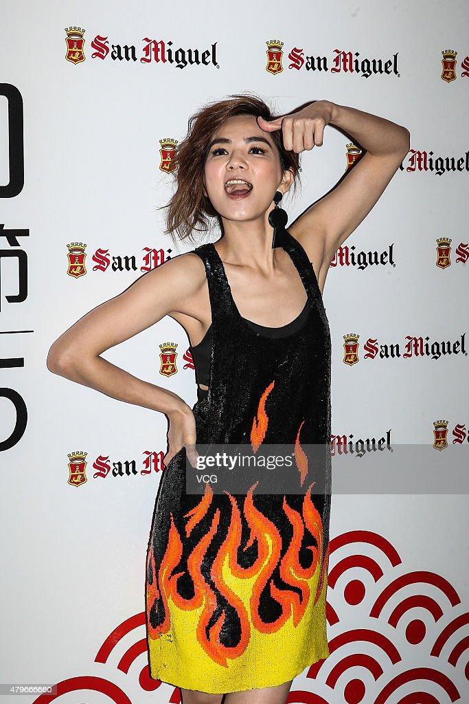 Singer Ella of S.H.E attends Hong Kong Dragon Boat Carnival on July 5, 2015 in Hong Kong, China.