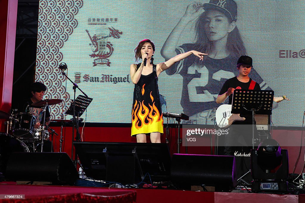 Singer Ella of S.H.E attends Hong Kong Dragon Boat Carnival on July 5, 2015 in Hong Kong, China.