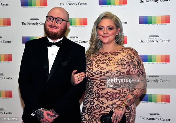 Singer Elle King and fiance Andrew Ferguson arrive for the formal Artist's Dinner honoring the recipients of the 39th Annual Kennedy Center Honors...