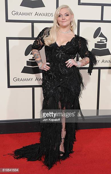 Singer Elle King arrives at The 58th GRAMMY Awards at Staples Center on February 15 2016 in Los Angeles California
