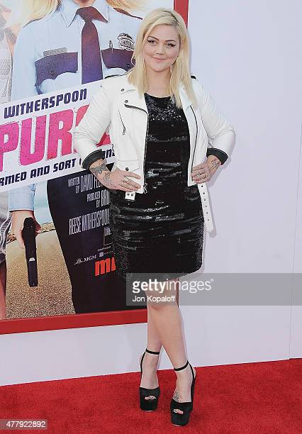 Singer Elle King arrives at the Los Angeles Premiere 'Hot Pursuit' at TCL Chinese Theatre IMAX on April 30 2015 in Hollywood California