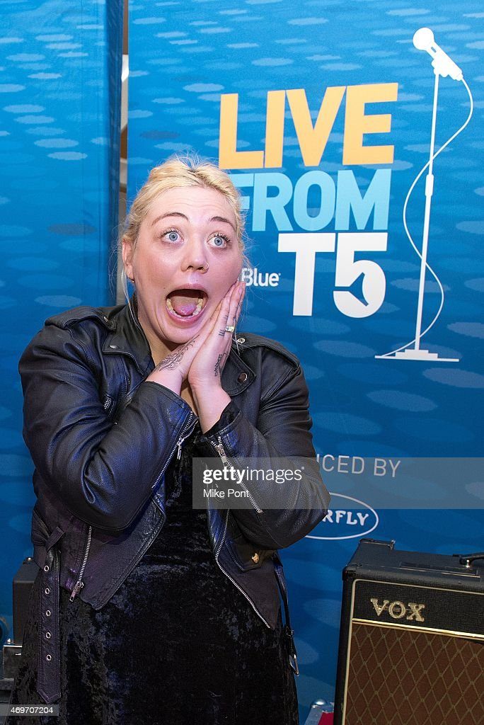 Singer Elle King attends JetBlue And Other Music Celebrate Record Store Day at JetBlue's Terminal 5 at JFK International Airport on April 14 2015 in...
