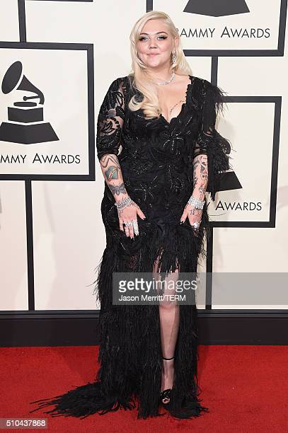 Singer Elle King attends The 58th GRAMMY Awards at Staples Center on February 15 2016 in Los Angeles California