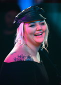 Singer Elle King performs at the 'Good Morning America' taping at the ABC Times Square Studios on January 6 2016 in New York City