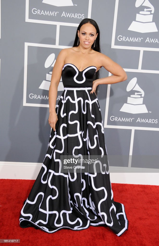 Singer Elle Varner attends the 55th Annual GRAMMY Awards at STAPLES Center on February 10, 2013 in Los Angeles, California.