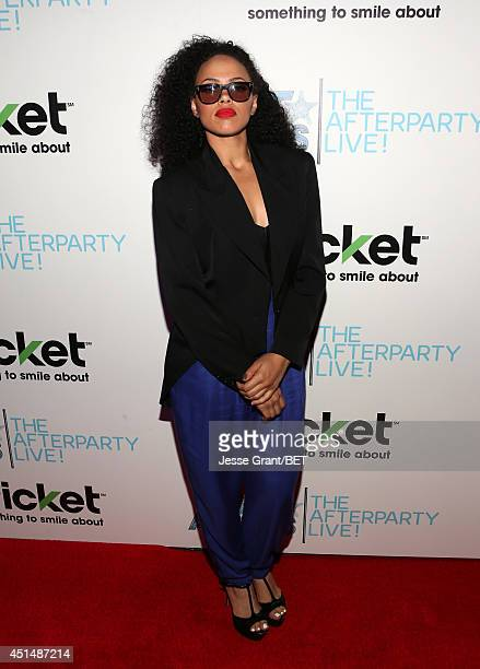 Singer Elle Varner attends the BET AWARDS '14 post show at Nokia Theatre LA LIVE on June 29 2014 in Los Angeles California