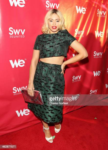 Singer Elle Varner attends the 'SWV Reunited' series premiere at Jazz Room at the General on January 15 2014 in New York City