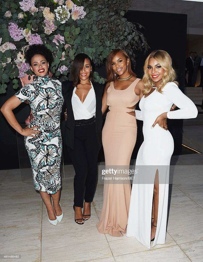 Singer <a gi-track='captionPersonalityLinkClicked' href=/galleries/search?phrase=Elle+Varner&family=editorial&specificpeople=5926946 ng-click='$event.stopPropagation()'>Elle Varner</a>, Eudoxie Agnan, singer <a gi-track='captionPersonalityLinkClicked' href=/galleries/search?phrase=LeToya+Luckett&family=editorial&specificpeople=756270 ng-click='$event.stopPropagation()'>LeToya Luckett</a>, and recording artist <a gi-track='captionPersonalityLinkClicked' href=/galleries/search?phrase=Ashanti&family=editorial&specificpeople=146300 ng-click='$event.stopPropagation()'>Ashanti</a> attend the BET AWARDS '14 Debra Lee's Pre-Dinner held at Milk Studios on June 28, 2014 in Los Angeles, California.
