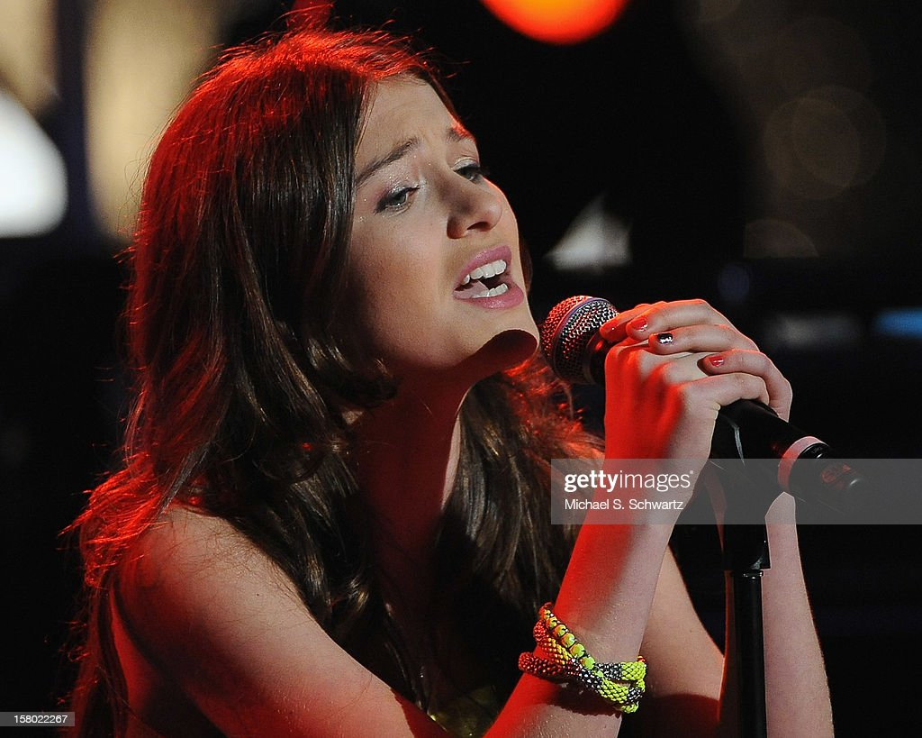 Singer Elle Winter performs during her appearance at Radio Disney's N.B.T. 'Next BIG Thing' Season 5 Finale Event at The Americana at Brand on December 8, 2012 in Glendale, California.