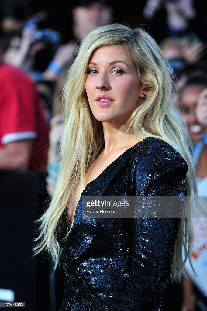 Singer <a gi-track='captionPersonalityLinkClicked' href=/galleries/search?phrase=Ellie+Goulding&family=editorial&specificpeople=6389309 ng-click='$event.stopPropagation()'>Ellie Goulding</a> arrives at the premiere of Summit Entertainment's 'Divergent' at the Regency Bruin Theatre on March 18, 2014 in Los Angeles, California.