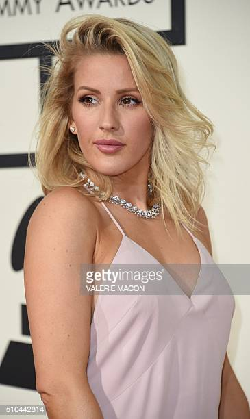 Singer Ellie Goulding arrives on the red carpet during the 58th Annual Grammy Music Awards in Los Angeles February 15 2016 AFP PHOTO/ Valerie MACON /...