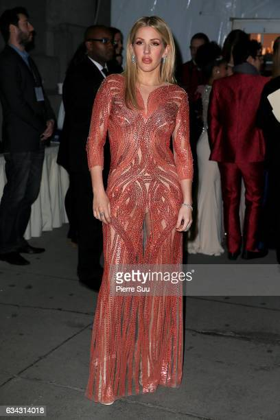 Singer Ellie Goulding attends the 19th annual amfAR's New York Gala to kick off NY Fashion Week at Cipriani Wall Street on February 8 2017 in New...