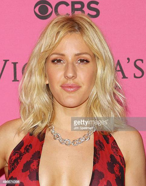 Singer Ellie Goulding attends the 2015 Victoria's Secret Fashion Show pink carpet arrivals at Lexington Armory on November 10 2015 in New York City