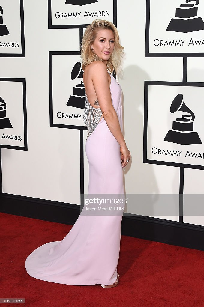 Singer <a gi-track='captionPersonalityLinkClicked' href=/galleries/search?phrase=Ellie+Goulding&family=editorial&specificpeople=6389309 ng-click='$event.stopPropagation()'>Ellie Goulding</a> attends The 58th GRAMMY Awards at Staples Center on February 15, 2016 in Los Angeles, California.