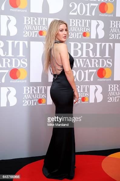 Singer Ellie Goulding attends The BRIT Awards 2017 at The O2 Arena on February 22 2017 in London England