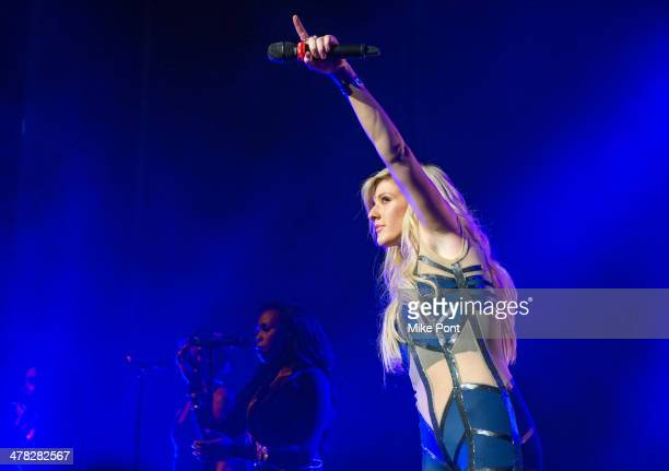 Singer Ellie Goulding performs at Madison Square Garden on March 12 2014 in New York City