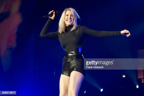 Singer Ellie Goulding performs live during a concert at the MaxSchmelingHalle on January 22 2016 in Berlin Germany