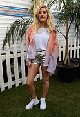 Singer Ellie Goulding poses backstage during day 1 of the 2016 Coachella Valley Music Arts Festival Weekend 1 at the Empire Polo Club on April 15...