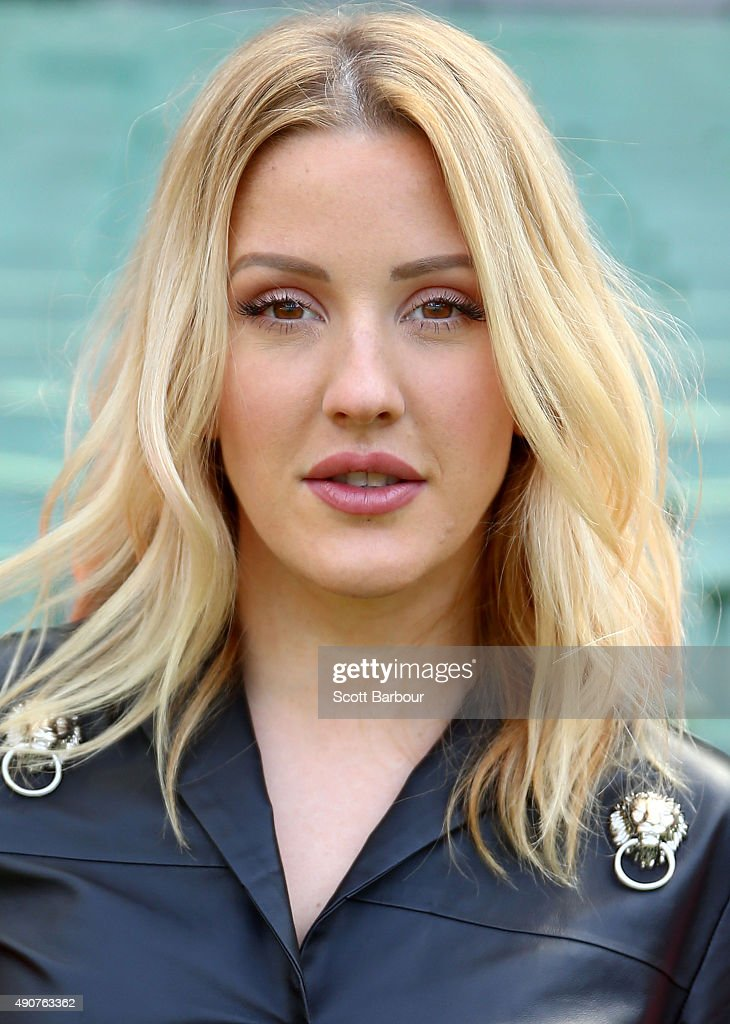 Singer <a gi-track='captionPersonalityLinkClicked' href=/galleries/search?phrase=Ellie+Goulding&family=editorial&specificpeople=6389309 ng-click='$event.stopPropagation()'>Ellie Goulding</a> poses during a 2015 AFL Grand Final Entertainment Media Opportunity at the Melbourne Cricket Ground on October 1, 2015 in Melbourne, Australia.
