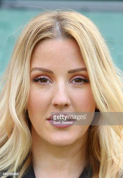 Singer Ellie Goulding poses during a 2015 AFL Grand Final Entertainment Media Opportunity at the Melbourne Cricket Ground on October 1 2015 in...