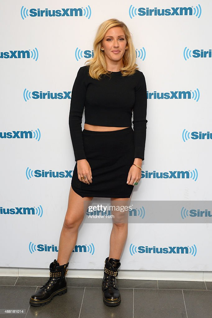 Singer <a gi-track='captionPersonalityLinkClicked' href=/galleries/search?phrase=Ellie+Goulding&family=editorial&specificpeople=6389309 ng-click='$event.stopPropagation()'>Ellie Goulding</a> visits SiriusXM Studios on September 14, 2015 in New York City.