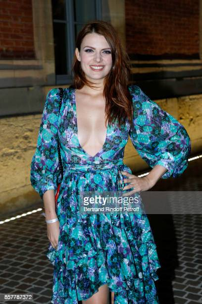 Singer Elodie Frege attends the 'Diner Surrealiste' to celebrate the 241th birthday of 'Maison Louis Roederer' on October 4 2017 in Reims France