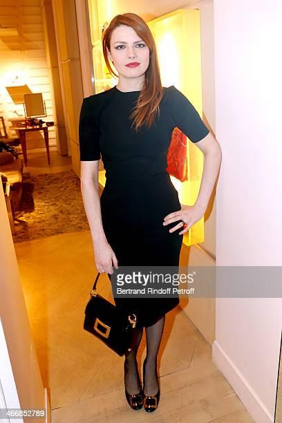 Singer Elodie Frege attends the 'Le Paris du Tout Paris' Book written by Alexandra Senes Presentation at Maison Roger Vivier on February 4 2014 in...