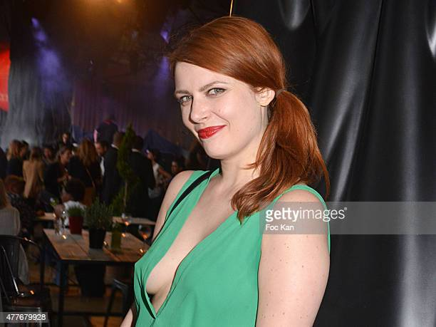 Singer Elodie Frege attends the 'Ma Terrazza' Cocktail Party at the Electric Club on June 18 2015 in Paris France