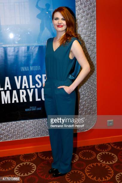 Singer Elodie Frege attends the screening of 'La valse de Marylore' short film Held at Cinema Gaumont Opera in Paris on March 6 2014 in Paris France...