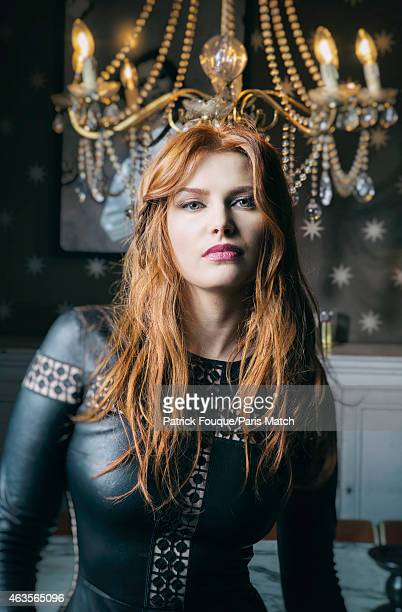 Singer Elodie Frege is photographed for Paris Match on January 21 2015 in Paris France