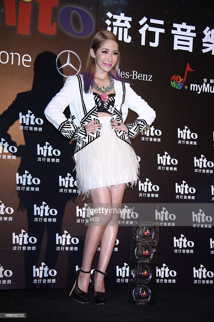 Singer <a gi-track='captionPersonalityLinkClicked' href=/galleries/search?phrase=Elva+Hsiao&family=editorial&specificpeople=4533026 ng-click='$event.stopPropagation()'>Elva Hsiao</a> attends 2013 Hito Music Awards at Taipei Arena on June 2, 2013 in Taipei, Taiwan.