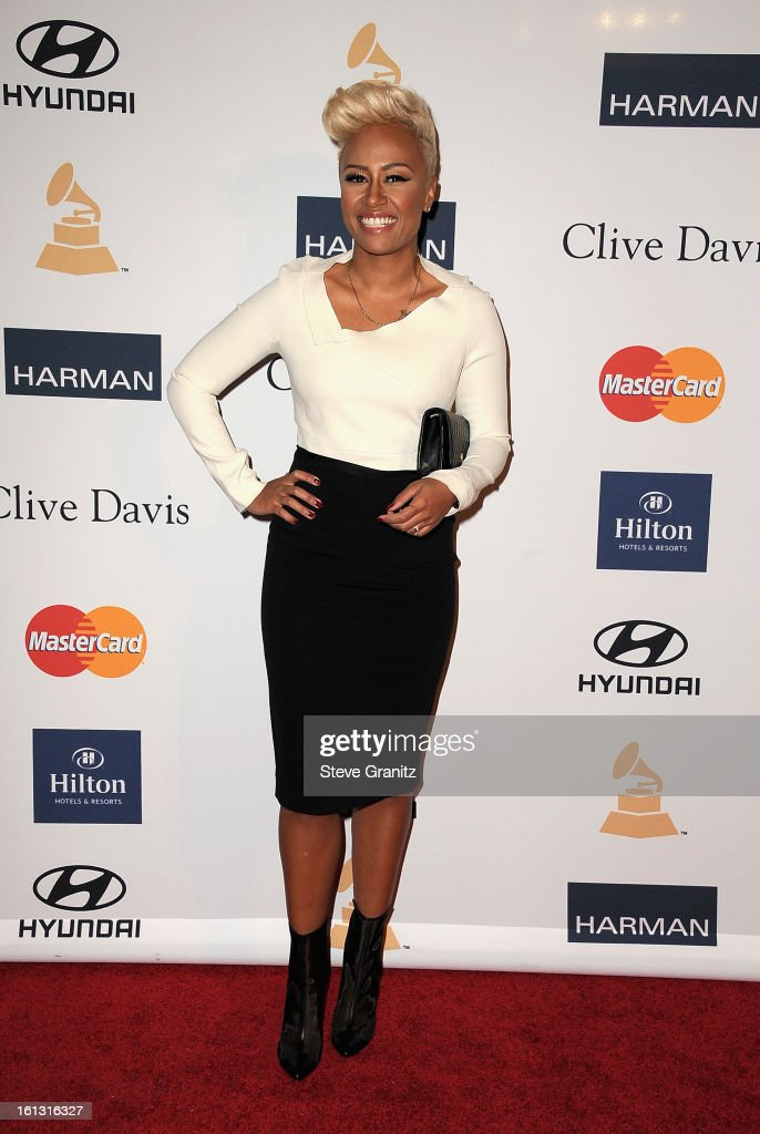 Singer <a gi-track='captionPersonalityLinkClicked' href=/galleries/search?phrase=Emeli+Sande&family=editorial&specificpeople=7220317 ng-click='$event.stopPropagation()'>Emeli Sande</a> arrives at the 55th Annual GRAMMY Awards Pre-GRAMMY Gala and Salute to Industry Icons honoring L.A. Reid held at The Beverly Hilton on February 9, 2013 in Los Angeles, California.