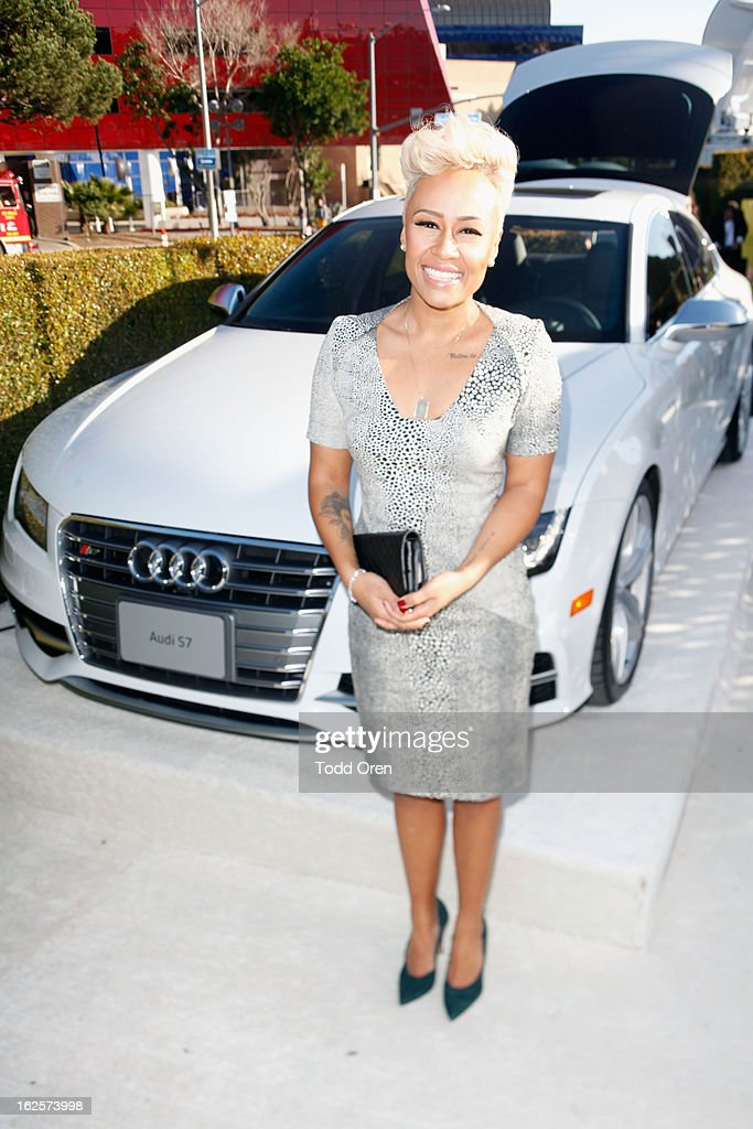 Singer Emeli Sande attends Audi at 21st Annual Elton John AIDS Foundation Academy Awards Viewing Party at West Hollywood Park on February 24, 2013 in West Hollywood, California.