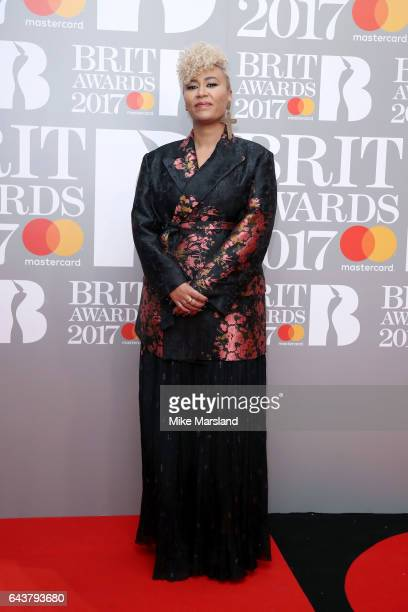 Singer Emeli Sande attends The BRIT Awards 2017 at The O2 Arena on February 22 2017 in London England
