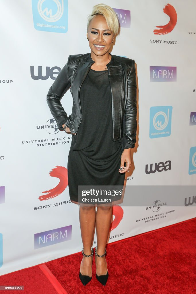 Singer Emeli Sande attends the NARM Music Biz Awards dinner party at the Hyatt Regency Century Plaza on May 9, 2013 in Century City, California.