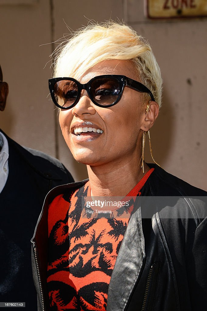 Singer Emeli Sande leaves the 'Live With Kelly And Michael' taping at the ABC Lincoln Center Studios on April 26, 2013 in New York City.