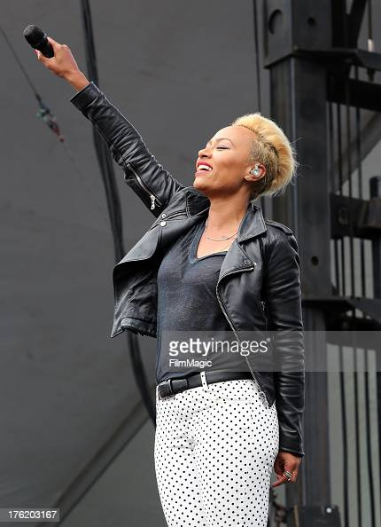 Singer Emeli Sande performs at the Twin Peaks Stage during Day 3 of the 2013 Outside Lands Music And Arts Festival at Golden Gate Park on August 11...