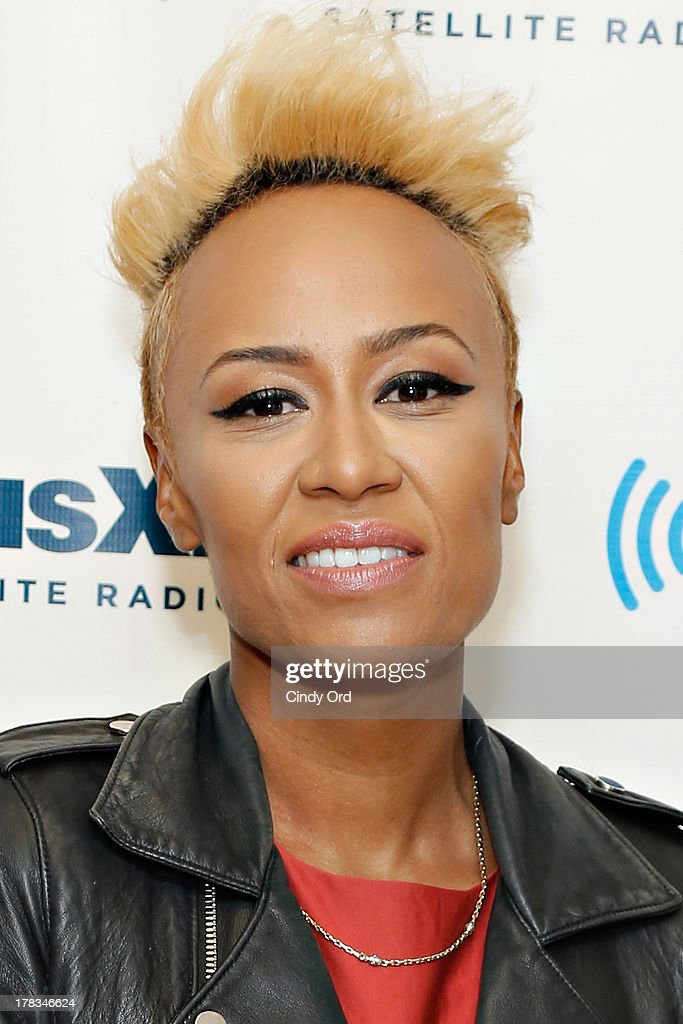 Singer Emeli Sande visits the SiriusXM Studios on August 29, 2013 in New York City.