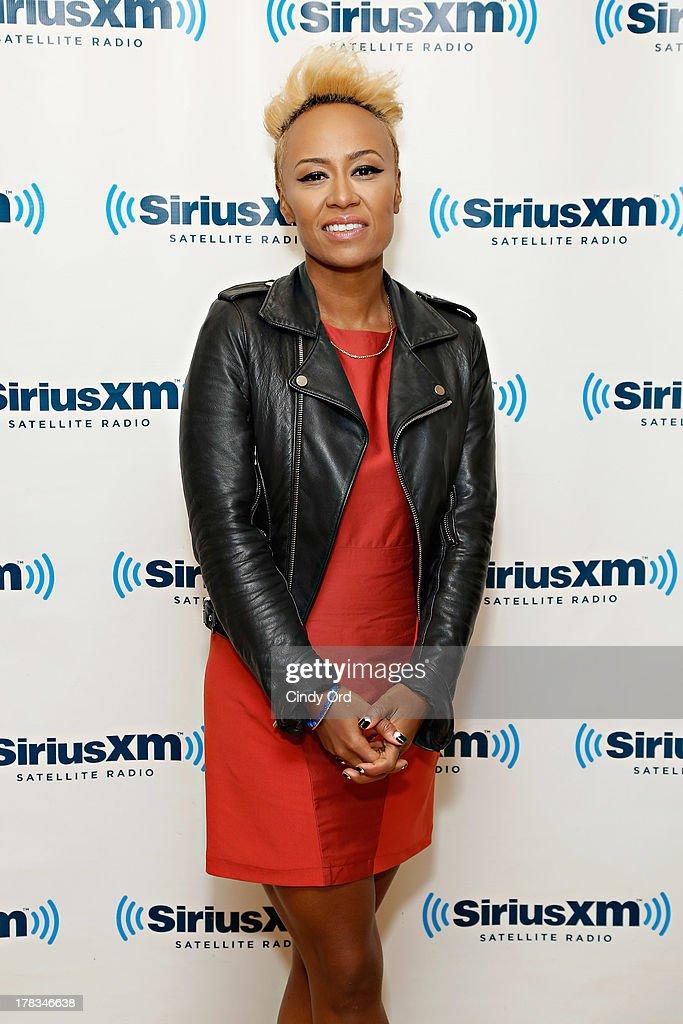 Singer Emeli Sande visits the SiriusXM Studios on August 29, 2013 in New York City.