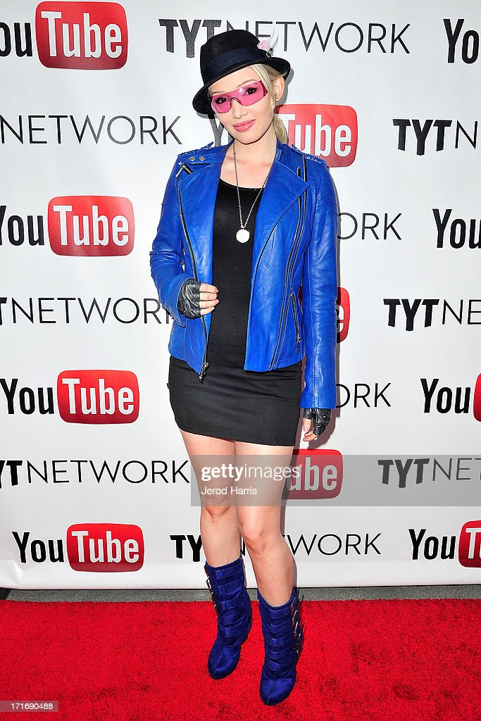 Singer Emii arrives at YouTube and TYT Network Present the 1st Annual YouTube PRIDE Party Hosted By Dave Rubin at YouTube Space LA on June 27, 2013 in Los Angeles, California.