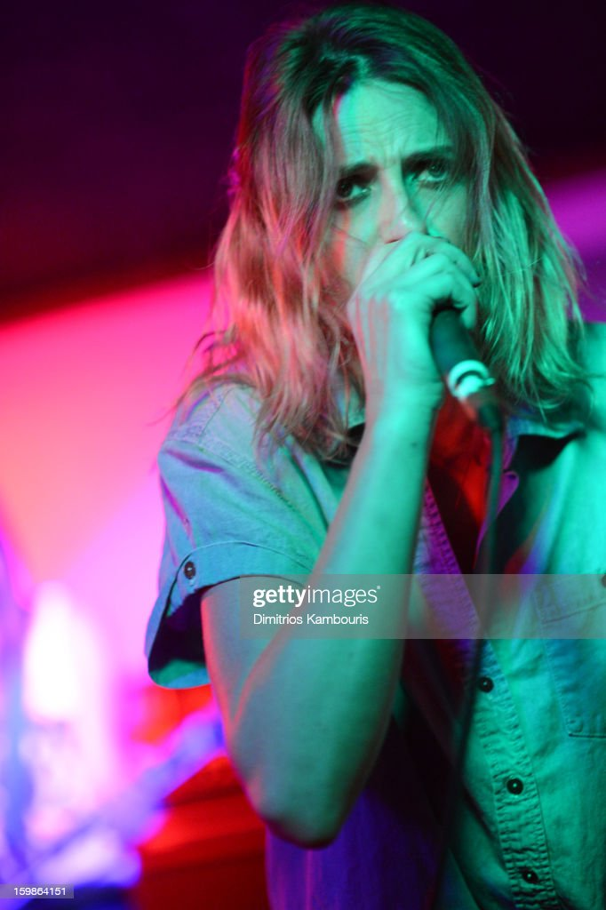 Singer Emily Armstrong of Dead Sara perform at Cisero's Bar on January 21 2013 in Park City Utah