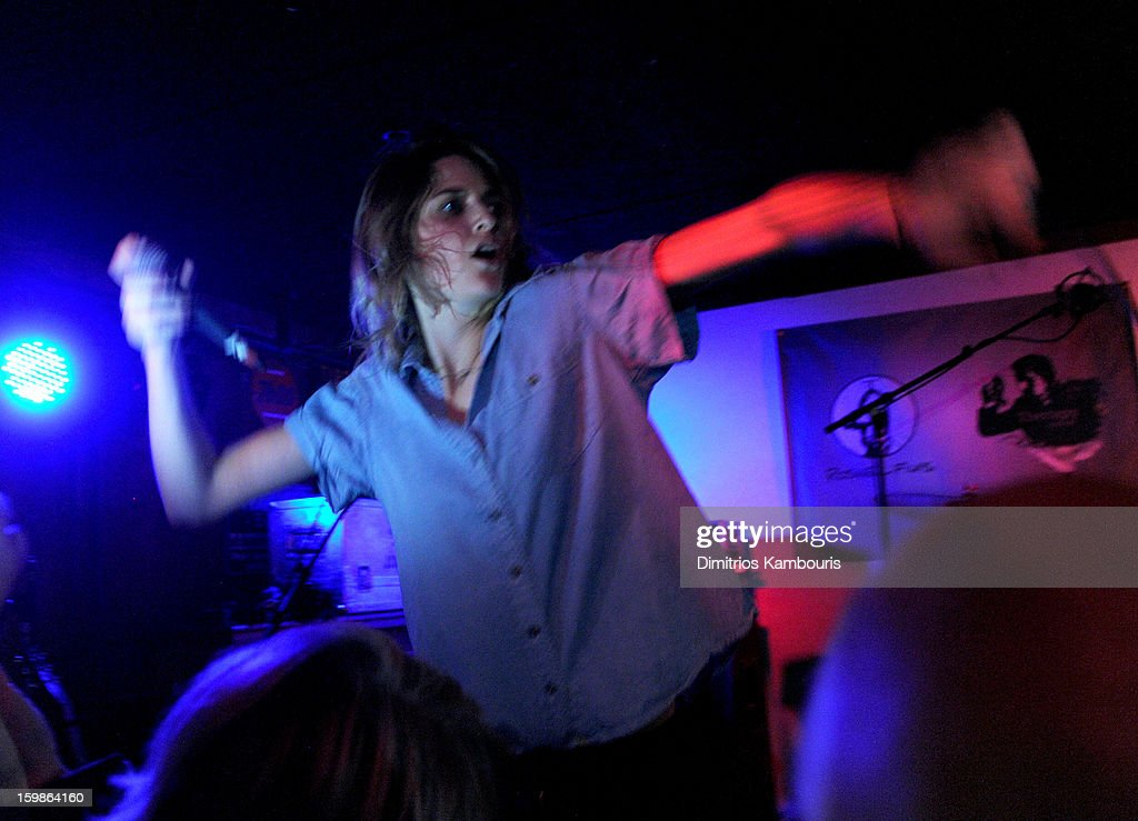 Singer <a gi-track='captionPersonalityLinkClicked' href=/galleries/search?phrase=Emily+Armstrong&family=editorial&specificpeople=5310796 ng-click='$event.stopPropagation()'>Emily Armstrong</a> of Dead Sara perform at Cisero's Bar on January 21, 2013 in Park City, Utah.