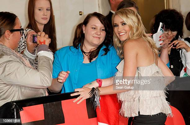 Singer Emily Osment attends The Dome 55 on August 27 2010 in Hannover Germany