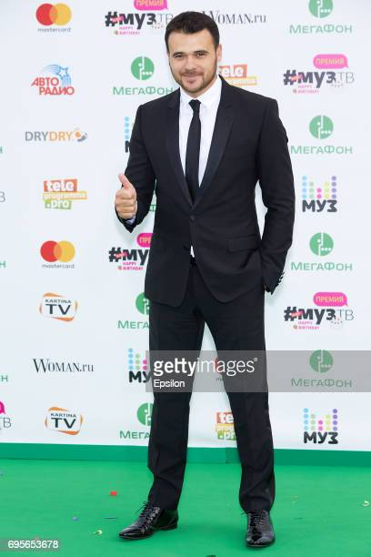 Singer Emin Agalarov aheads of the 2017 MuzTV Music Awards ceremony at Olimpiyskiy Stadium on June 9 2017 in Moscow Russia