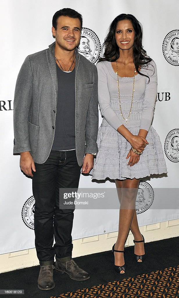 Singer Emin Agalarov and model and 'Top Chef' host Padma Lakshmi attend The Friars Club Presents: Do You Think You Can Roast?! Padma Lakshmi at New York Friars Club on February 1, 2013 in New York City.