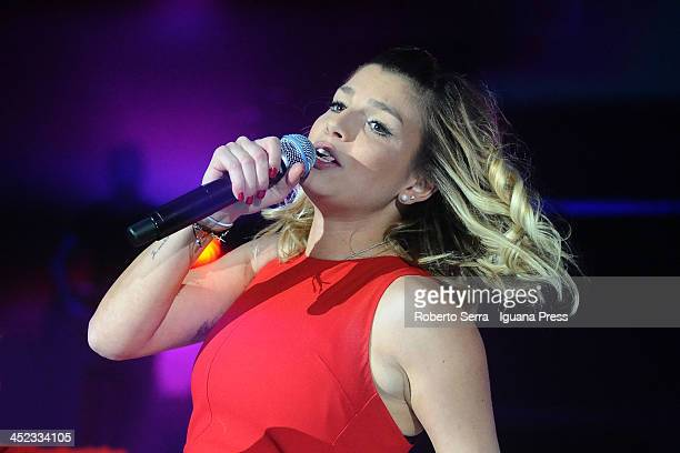 Singer Emma performs a concert of her 'Schiena Tour 2013' at PalaDozza on November 26 2013 in Bologna Italy