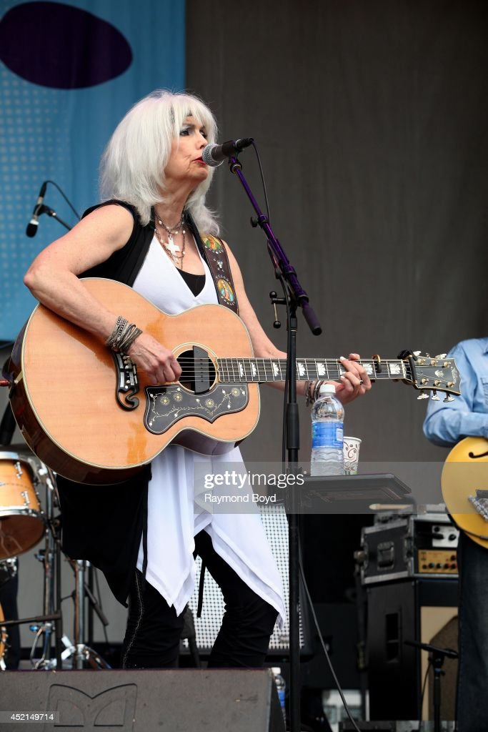 Singer Emmylou Harris performs on the Petrillo Music Shell during the 34th Annual 'Taste Of Chicago' food festival on July 11 2014 in Chicago Illinois