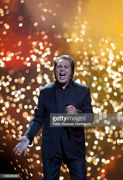 Singer Engelbert Humperdinck of the United Kingdom performs during the grand final of the Eurovision Song Contest 2012 at Crystal Hall on May 27 2012...