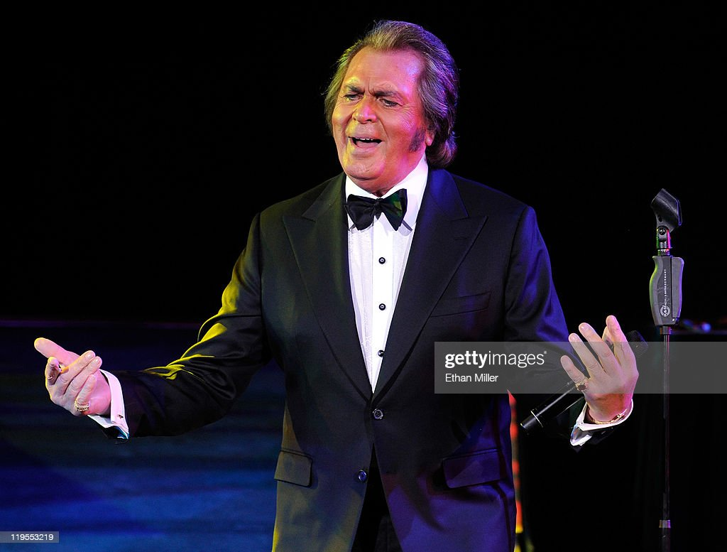 Singer <a gi-track='captionPersonalityLinkClicked' href=/galleries/search?phrase=Engelbert+Humperdinck+-+Singer&family=editorial&specificpeople=239022 ng-click='$event.stopPropagation()'>Engelbert Humperdinck</a> performs during the first of four shows at the Theatre des Arts at the Paris Las Vegas July 21, 2011 in Las Vegas, Nevada. Humperdinck received a ceremonial key to the city of Las Vegas and a star on the Las Vegas Walk of Stars yesterday.